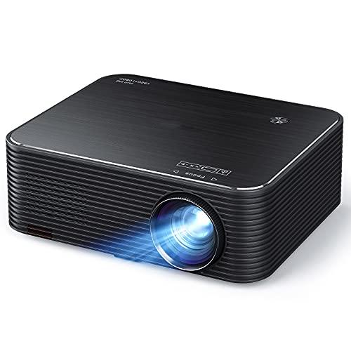 "Beamer LC650, Native 1080P Full HD Heimkino Projektor, 300 \"" LED Display Unterstützt 4K Video, 4D Elektronische Korrektur & 75{128a7c8202966d54545bd3d7a36ca894f9bf82e893175f2414032cd9f2493c91} Zoom, mit HDMI/USB /AUX, Phone/Laptop/TV Stick/PS4"