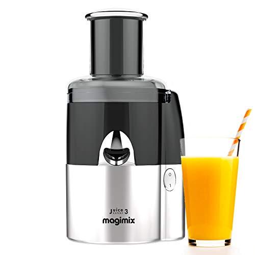 Magimix Juice Expert 3 Milchmaschine für Saft, Smoothie und pflanzliche Basis, einfache Wartung, 18082, Silber/Schwarz
