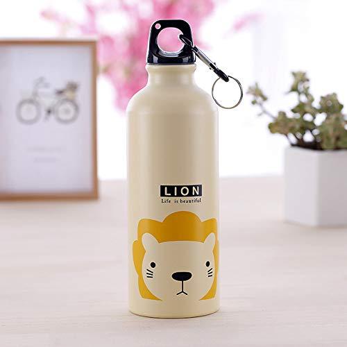 MYSdd 500ML Regalos para niños Botella de Agua Linda Botella de Agua de Acero Inoxidable Frasco hidráulico Botella de Agua Deportiva a Prueba de Fugas para niños Presente - 0.5L, 4