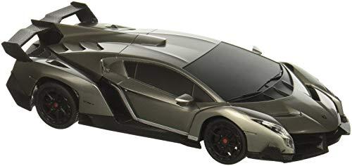 RW 1/24 Scale Lamborghini Veneno Car Radio Remote Control Sport Racing Car RC,Silver