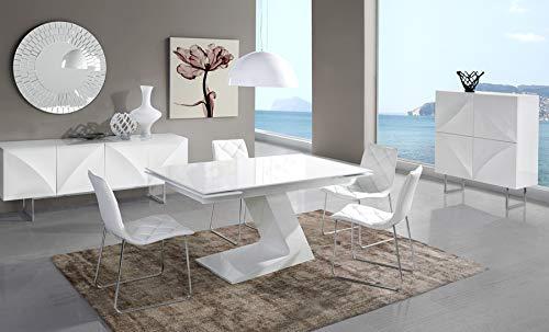 Kasalinea Esszimmer komplett weiß lackiert Design Helga
