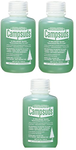 Sierra Dawn Campsuds Biodegradable Soap – All Purpose Cleaner for Camping, Hiking, Backpacking, Household – Perfect Liquid Soap for Camping Dishes, Shower, Shampoo, Hand (4oz in Nalgene Bottle)