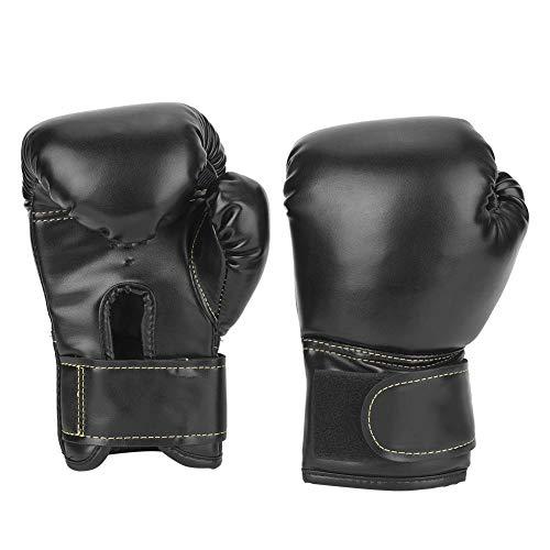 VGEBY1 Boxhandschuhe, EIN Paar PU-Leder Kinder Boxhandschuhe Stanzen Sandsack Handschuhe Trainingshandschuhe(Schwarz)