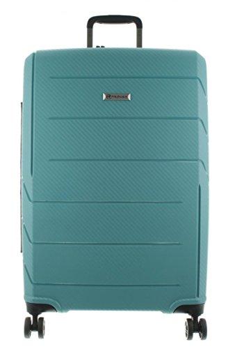 Franky Spinner Gr. M Koffer mit TSA-Zahlenschloss und Dehnfalte - Extra leichtes Polypropylen Aqua