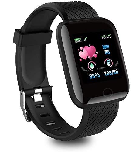 Smartwatch, Fitness Armband Fitness Tracker Voller Touch Screen Smart Watch IP68 Wasserdicht Fitness Uhr mit Pulsuhren Schrittzähler Damen Herren Armbanduhr Sportuhr für iOS Android