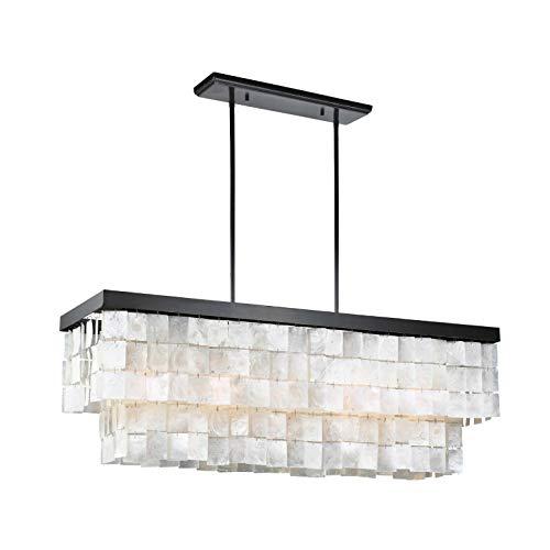 Sea Gull Lighting 3225005-782 Corsicana Five-Light Chandelier Hanging Modern Fixture, Heirloom Bronze Finish