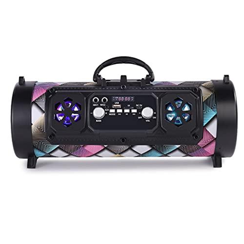 RYSF Colonne de Haut-Parleur Portable Compatible Bluetooth Haut-Parleur extérieur sans Fil Musique Haut-Parleur de Caisson de Basses stéréo Move KTV 3D Sound Radio FM (Color : D)