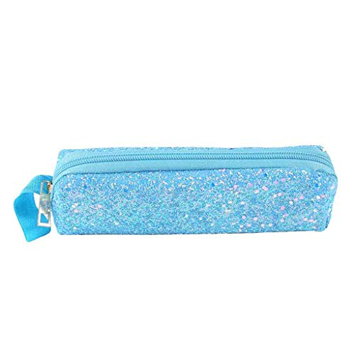 iHAZA ÉTudiant Unisexe Paillettes Zipper Clutch Bag Maquillage Cosmetic Pouch Pen Bag