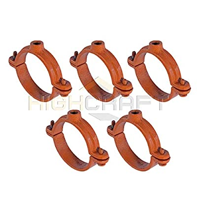 Highcraft Split Ring Pipe Hanger Copper Epoxy Coated Iron