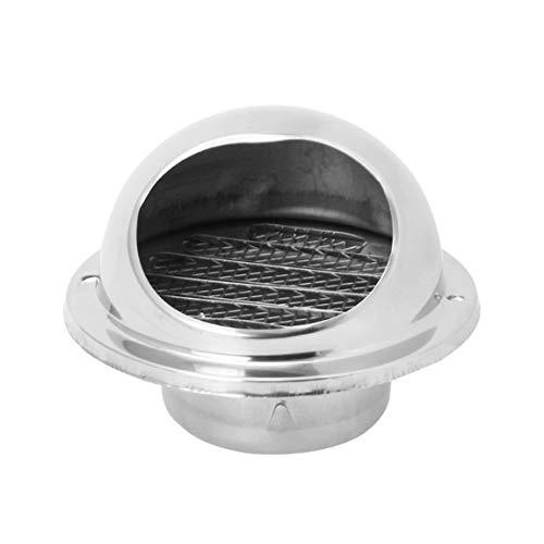 SeniorMar Rejilla de ventilación de Pared Conductos de ventilación Extractor de Salida Louvres Hemisphere 304 Cubierta de ventilación de Aire de Acero Inoxidable Salida de Campana