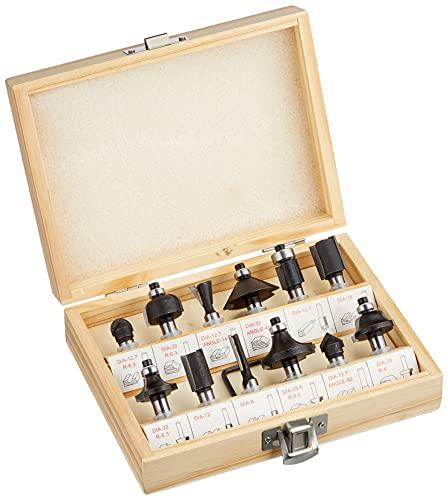 Originale Einhell Set 12 frese per fresatrice verticale (cofanetto in legno)