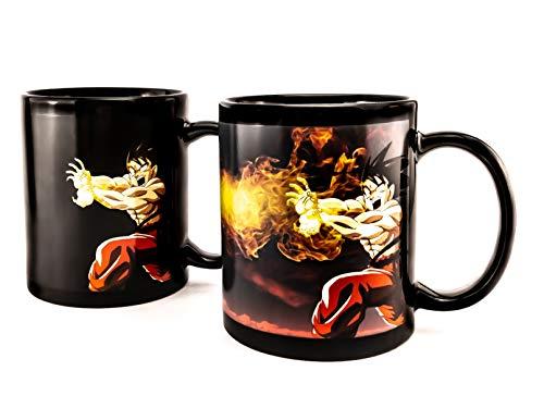 Taza mágica de Dragon Ball Z Goku Kamehameha, para café o té, de cerámica, hecha a...