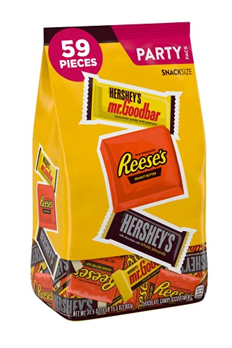 HERSHEY'S Nut Lover's Chocolate Candy, Snack Size Assortment, 31.5 Ounce