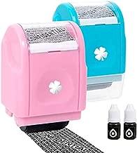 Vantacent89 Roller Stamp Identity Theft Protection Roller Stamp Confidential Address Blocker Anti Prevention 2set (Blue-Pink)