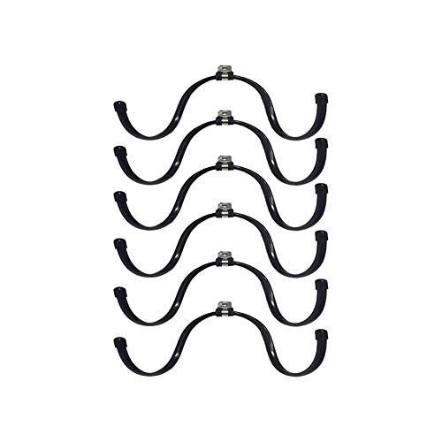 HAOZHAO Montado en la Pared Flexible Ajustable de la Botella del Vino del Metal y del sostenedor del Estante de Vidrio  Home & Kitchen (Color : Black)