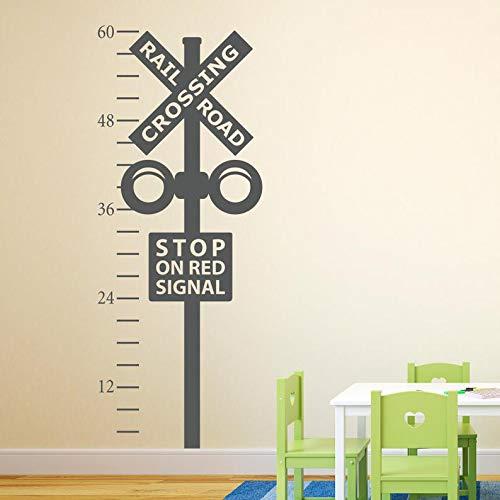 Gráfico de crecimiento de cruce de ferrocarril textura-tren que cruza la textura de la pared-tren arte de la pared decoración papel tapiz adhesivo de pared mural A5 42X108CM