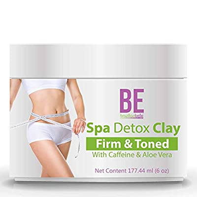 Brazilian Spa Detox Body Clay for Inch Loss Body Wraps, Detox and Cleanse -Rejuvenate and Improves Skin Texture- All Natural Ingredients - 6 oz by Brazilian Belle