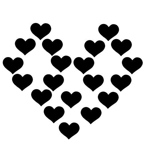 Creamlin 10Pairs Sexy Herz-Pasteten Einmal-Nippel-Abdeckungen Brust-BH-Aufkleber (Schwarz)