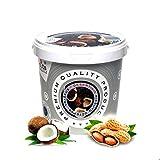''PuNuts'' Mantequilla de Cacahuete con Coco, Textura Crujiente, Sin Grasa de Palma, 100% Natural Peanut Butter 1kg (Cacahuete con coco)