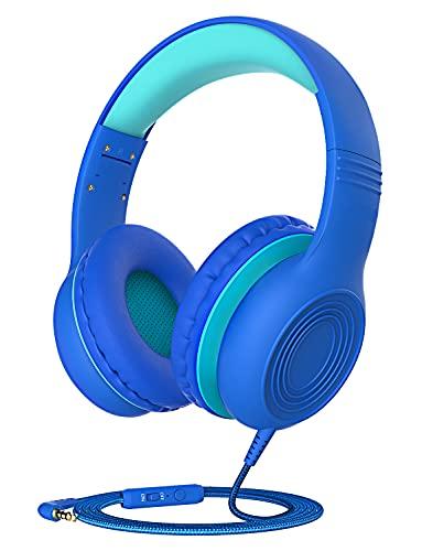 Pahasur Kids Headphones, Children Headphones with Mic, Volume Limited...