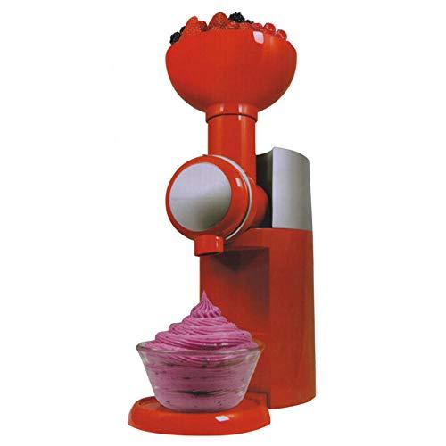 Eismaschine, Fruchteismaschine Smoothie-Maschine, tragbare automatische gefrorene Frucht Dessert-Maschine-Rot