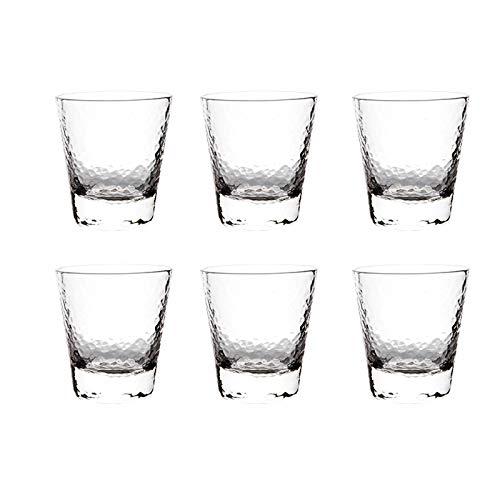 Einfachheit 6-pc-Bierglas 300ml / 350ml Champagnerglas Cocktail Glas Rotwein Glas Wasser Tasse Kristall Glas Haushalt MUMUJIN (Color : A, Size : 350ML)
