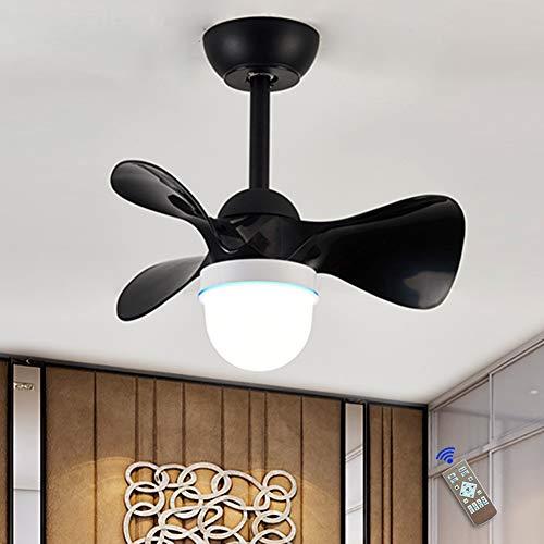 JAHQ Ventilador de techo con luz y mando a distancia, 3 palas, 55 cm de diámetro, potencia 36 W y 6 velocidades, Función de inversión de invierno