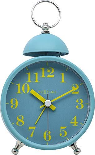 Nextime Single Bell - Despertador (Metal y plástico, diámetro de 16 cm), Color Turquesa
