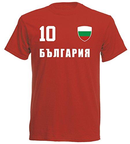 Bulgarien WM 2018 T-Shirt Trikot Look - rot ALL-10 - S M L XL XXL (L)