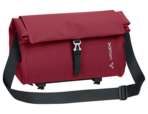 VAUDE Comyou Shopper luggage carrier bag for cycling, waterproof welded, Red (darkRed), 24 x 37 x 18 cm, 15 liters