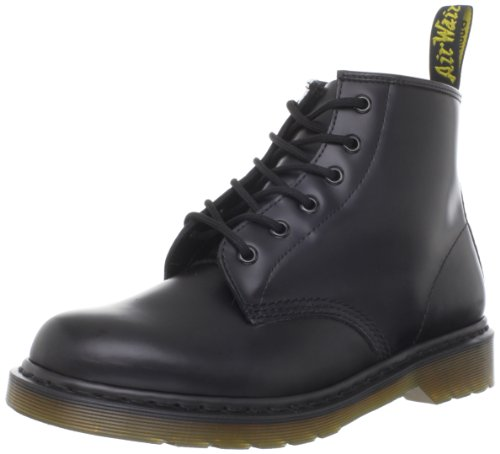 Dr. Martens 101 Smooth 6 Eye Boot , Stivaletti Unisex Adulto, Nero, 42