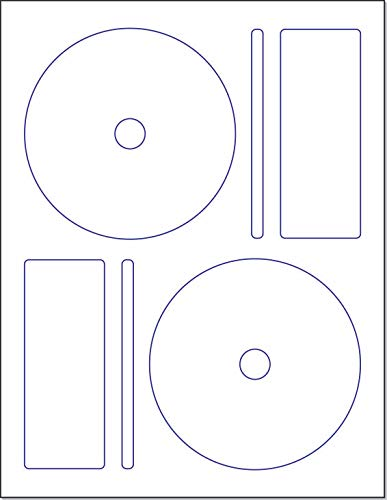 Memorex CD/DVD Label, 2 per Page (250 Labels / 125 Sheets)