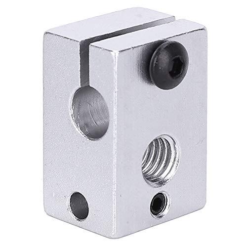 Juego de llaves hexagonales de bloque de calentador de impresora 3D de 5 piezas, accesorio de impresora industrial de bloque de calentador de metal estándar para la mayoría de las impresoras 3D