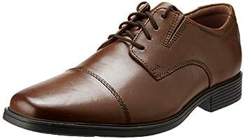 Clarks Men s Tilden Cap Oxford Shoe,Dark Tan Leather,12 M US