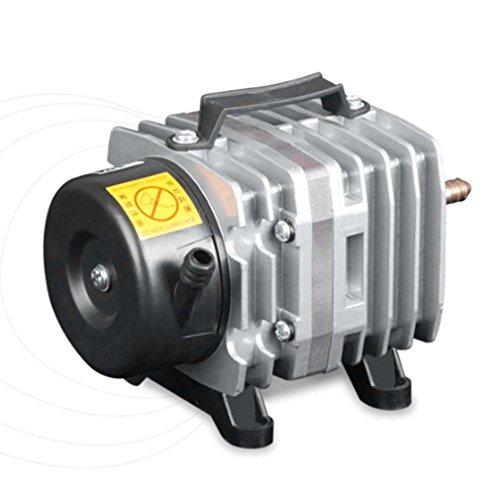 220V 38L / Min Aquariumluchtpomp Elektromagnetische luchtcompressor Zuurstofpomp zilver