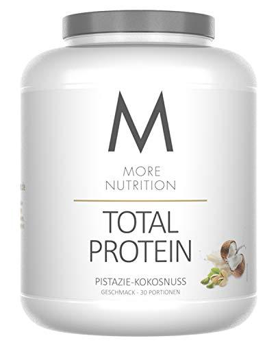 More Nutrition Total Protein - Whey & Casein Zur Optimalen Proteinsynthese 1 x 1500 g (Pistazie Kokosnuss)