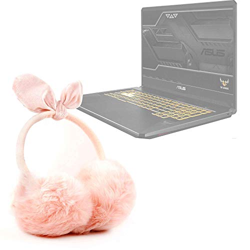 DURAGADGET Auriculares de Diadema Acolchados con Exterior Peludo de Peluche Compatible con Portátil ASUS TUF Gaming FX705GM-EV020 Invierno. Color Rosa.