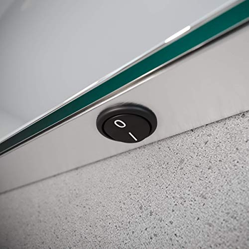 Spiegel ID ZUSATZOPTION für LED Badspiegel | Kippschalter (zum Bedienen der Beleuchtung) Position: rechte Spiegelkante