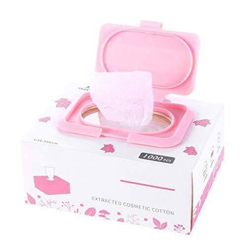 Coussinets Maquillage 1000 pièces de Coton en boîte jetable Coton Remover Visage Humide compresse Coton spécial Nettoyage Coton Outil Nettoyage Visage (Color : White)