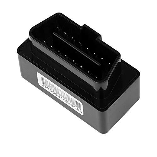 Huaxingda Rastreador GPS De Coche OBD Plug & Play con Posicionamiento GPS Seguimiento En Tiempo Real Alarma De Enchufe Alarmas Múltiples Tamaño Compacto