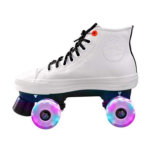 Nicekko Rolschaatsen Unisex Quad Roller Schaats Binnen En Outdoor Volwassen Rollerskates met Hoge Top Sneaker Stijl Geweldig voor Beginner
