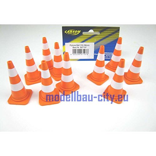 Carson 500907197 Pylone-Set (10) 56mm, orange