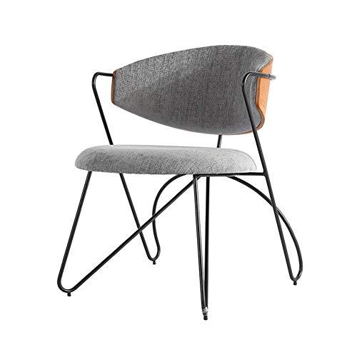 L.BAN Wohnzimmer Stuhl Leinenstoff Essensstuhl Exzellentes Design Metallbeine