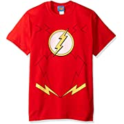 DC Comics Men's The Flash Distressed Logo T-Shirt
