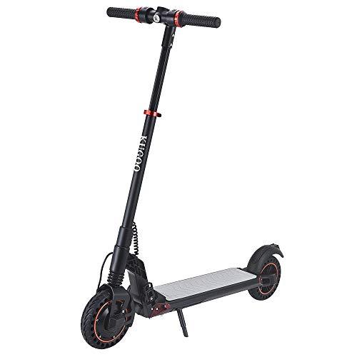 Vikcam KUGOO S1 Plus Monopattino Elettrico Pieghevole per Adulto E-Scooter Max 30 km/h, Motore 350 W, capacità della Batteria 7,5 Ah, Pneumatico da 8,0 Pollici - Nero