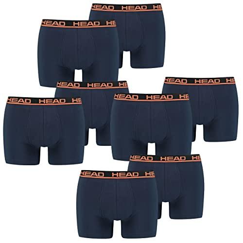 HEAD Herren Boxershorts Unterhosen 4P (Blue/Orange, L)