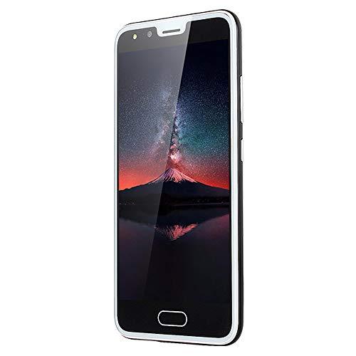 Haihuic Smartphone 3G Desbloqueado, Pantalla HD de 5.0 Pulgadas Android 4.4 ROM de 512 MB de RAM de 4 GB Dual SIM Slots Dual Camera ID de la Cara WiFi GPS Bluetooth Negro