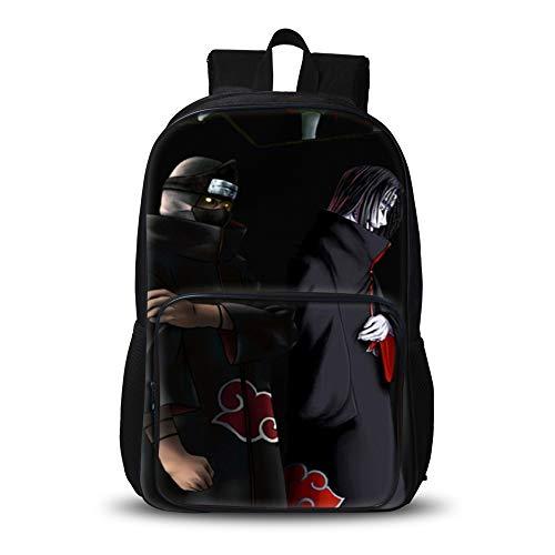 NARUTO Personalità Semplice zainetto zaino grande capacità 3D Trendy selvaggio Zaino Student Fashion Casual Daypack Men Escursionismo Bag unisex (Color : A01, Size : 32 X 19 X 48cm)