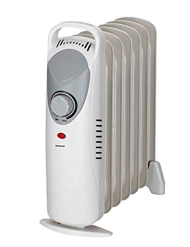 IN RADIADOR DE Aceite INFINITON Desde 700W/3000W (Control de Temperatura con termostato mecánico, 3 Niveles de Potencia, Soporte Anti-vuelco con Ruedas) (700W (Mini))