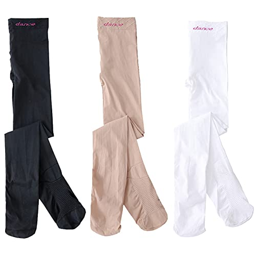 3 polainas para niñas, pantalones de gimnasia, pantalones de color sólido, para niños de 3 a 14 años